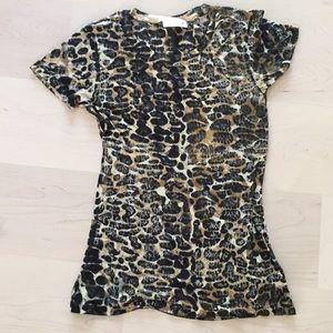 Hand printed animal parent T-shirt size medium